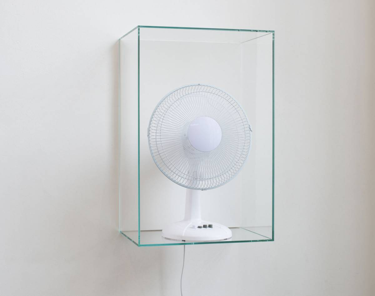 Untitled. Fan, glas, 67 x 44 x 39 cm, Edition 2/3, 2011